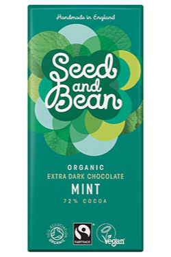 SEED AND BEAN Mint DARK CHOCOLATE BAR