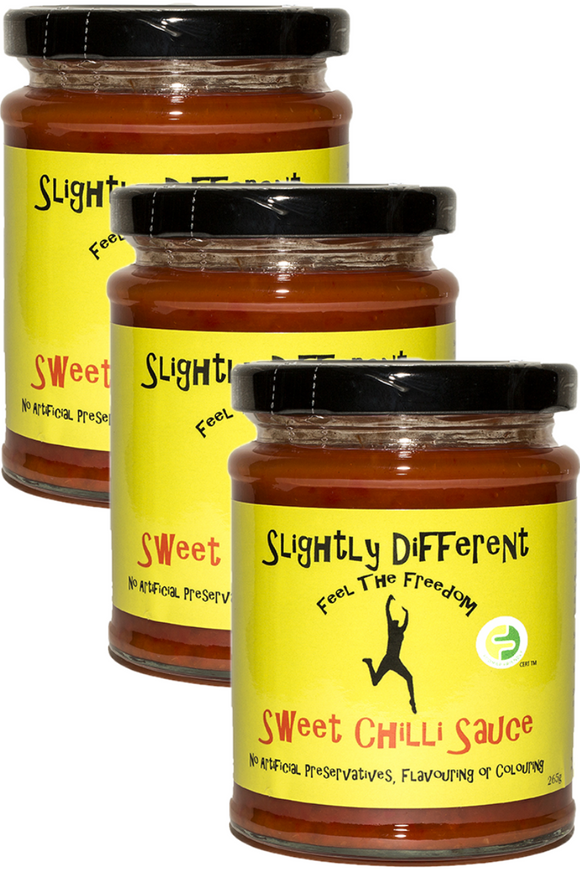 SLIGHTLY DIFFERENT Sweet Chilli Sauce (265g) x3