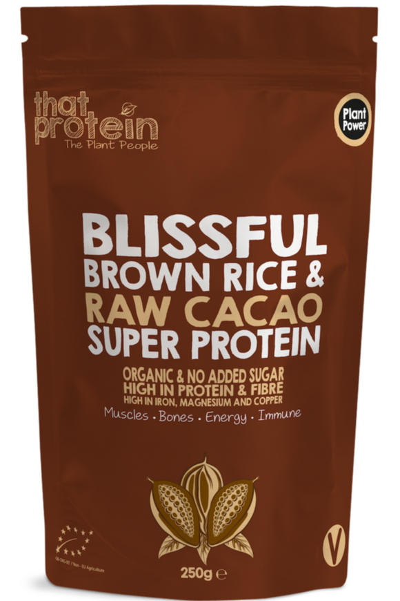 THAT PROTEIN Brown Rice & Raw Cacao Vegan Protein Shake (250g)
