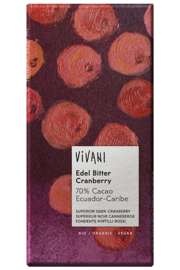 VIVANI Cranberry Dark Chocolate (100g)