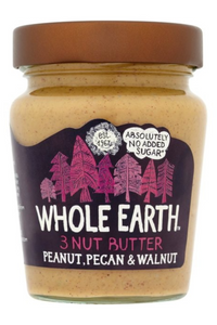 WHOLE EARTH Peanut, Pecan and Walnut Nut Butter