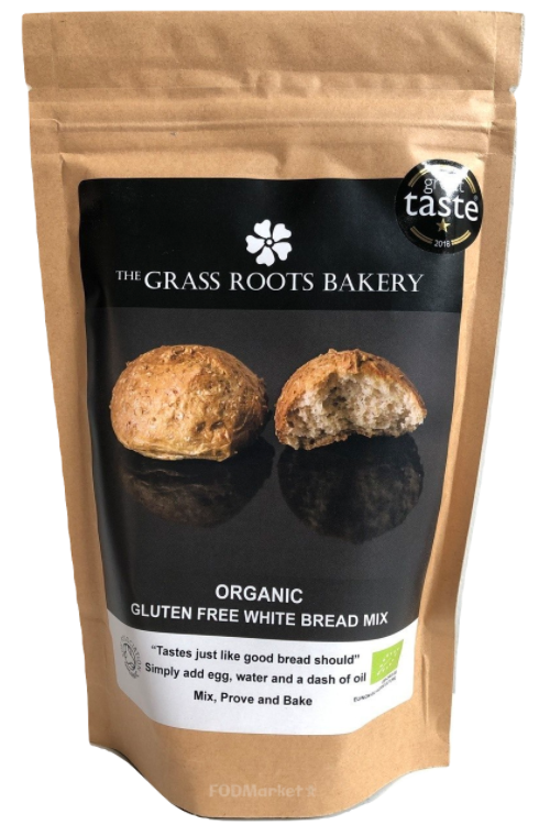 GRASS ROOTS BAKERY Organic Gluten White Bread Mix (560g)