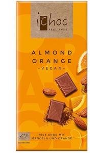 ICHOC Almond Orange Chocolate (80g)