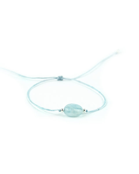 .... Blaues Everyday Companion Armband mit Aquamarin .. Blue Everyday Companion Bracelet with Aquamarine ....