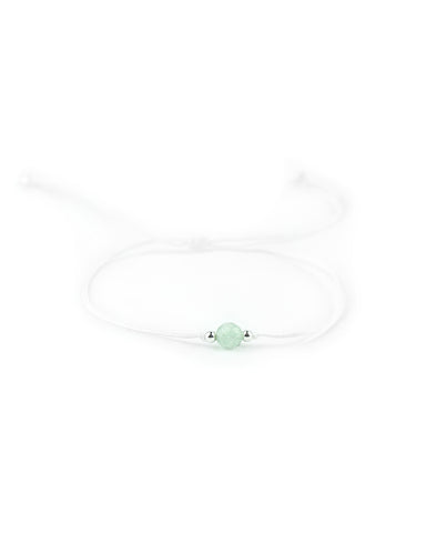 .... Weißes Everyday Companion Armband mit Aventurin .. White Everyday Companion Bracelet with Aventurine ....