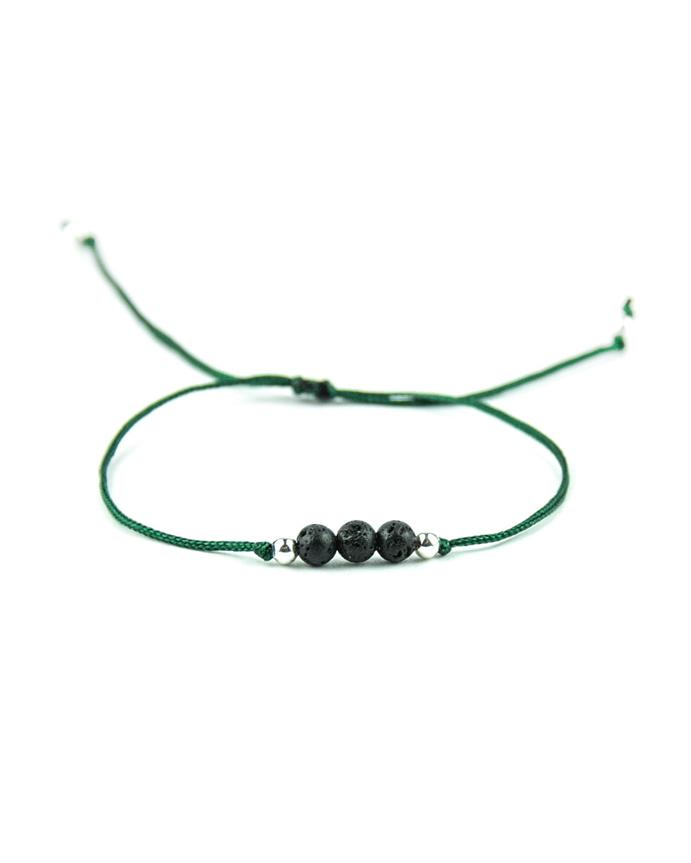.... Grünes Everyday Companion Armband mit Basalt Lava .. Green Everyday Companion Bracelet with Basalt Lava ....