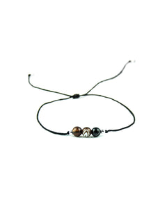 .... Schwarzes Everyday Companion Armband mit Achat .. Black Everyday Companion Bracelet with Agate ....