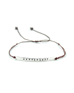 .... Silber Balken Everyday Companion Armband Wanderlust .. Silver Bar Everyday Companion Bracelet Wanderlust ....