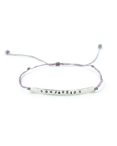 .... Silber Balken Everyday Companion Armband Compassion .. Silver Bar Everyday Companion Bracelet Compassion ....