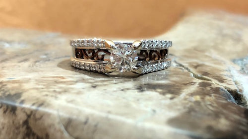 White Rose Gold Engagement Ring