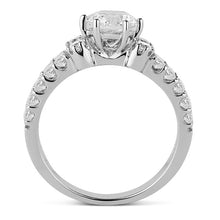 14kt White Gold Double Row Engagement Ring