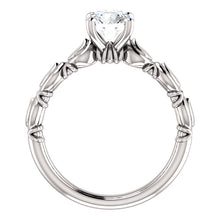 Round Sculptural-Inspired Engagement Ring