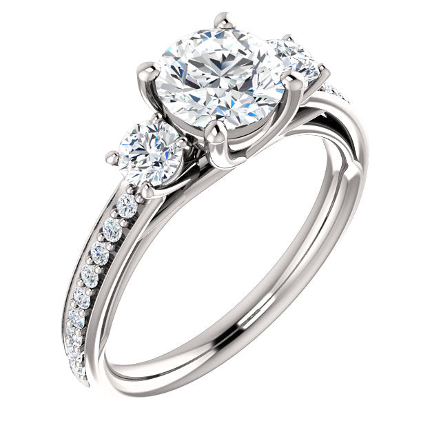 Round Engagement Ring Mounting