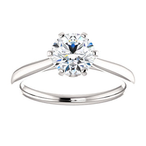 Round Engagement Ring