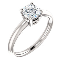 Round Center Stone Engagement Ring