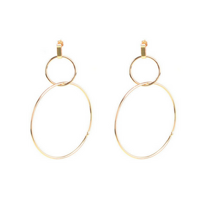 Double Circle Earrings (Gold)