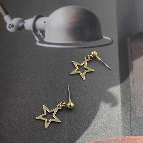 Open Star Studs - Gold/Silver