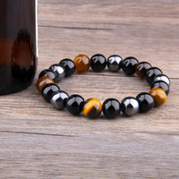 Bracelet Triple Protection en Pierres Naturelles - Boutique Namaste