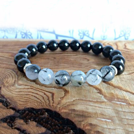 Bracelet en Tourmaline - Protection Douce - Boutique Namaste