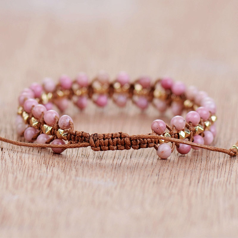 Bracelet en Rhodonite - Amour - Boutique Namaste