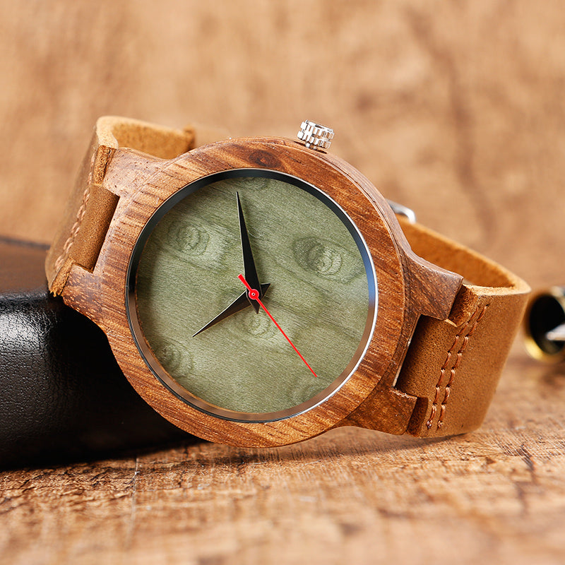 Montre en bambou naturel Indore - Boutique Namaste