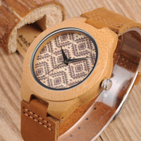 Montre en Bambou naturel Nagoya - Boutique Namaste