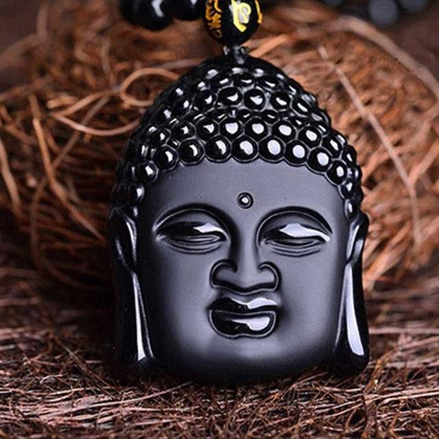 Collier en Obsidienne Noire - Bouddha Force - Boutique Namaste
