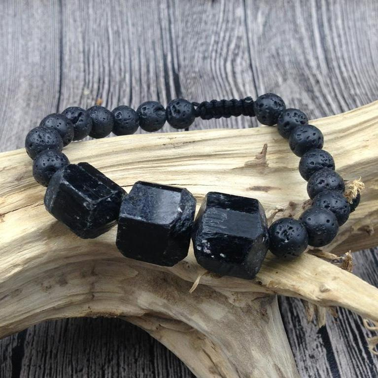 Bracelet en Tourmaline - Protection brute - Boutique Namaste