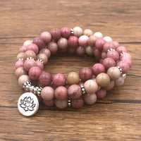 Mâla Tibétain en Rhodonite - Compassion - Boutique Namaste