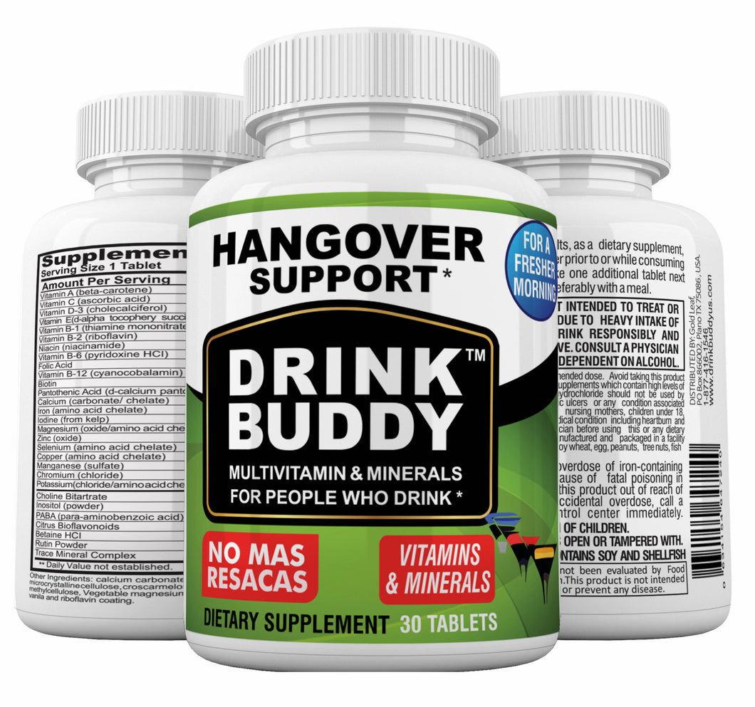 DRINKBUDDY- Bottle with 30 tablets.