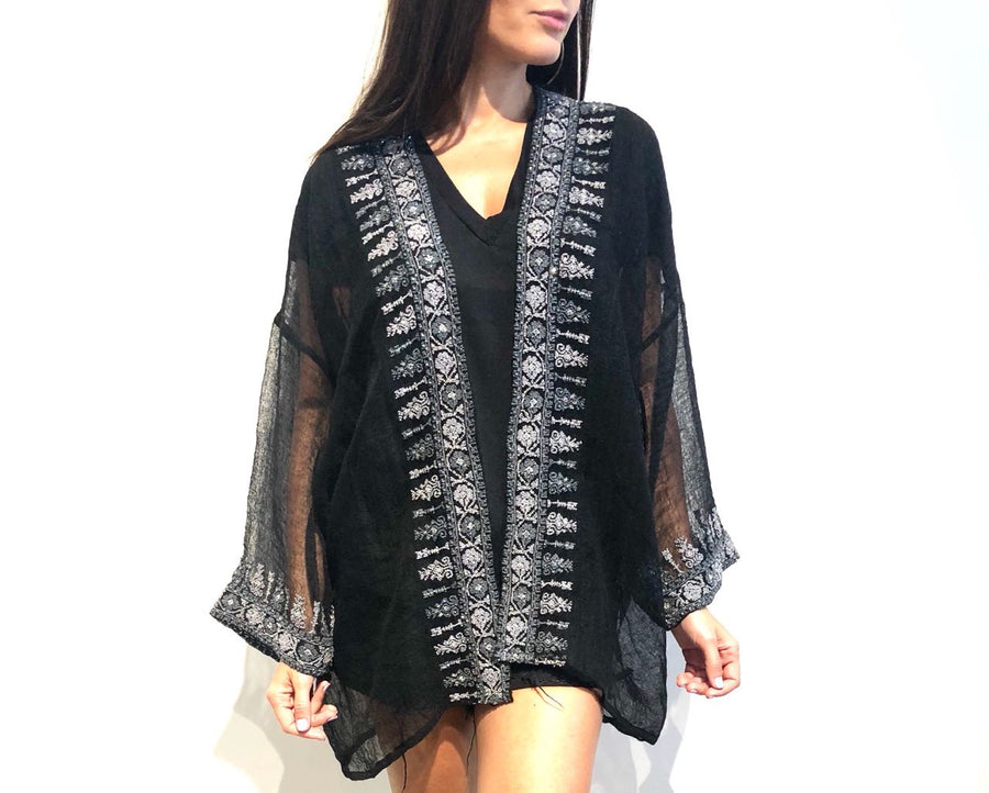 Black Najaf Beaded Jacket
