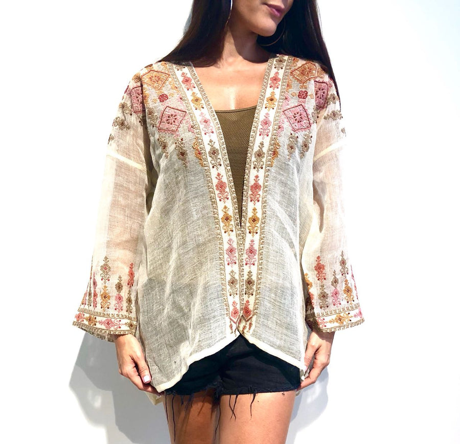 White Najaf Beaded Jacket