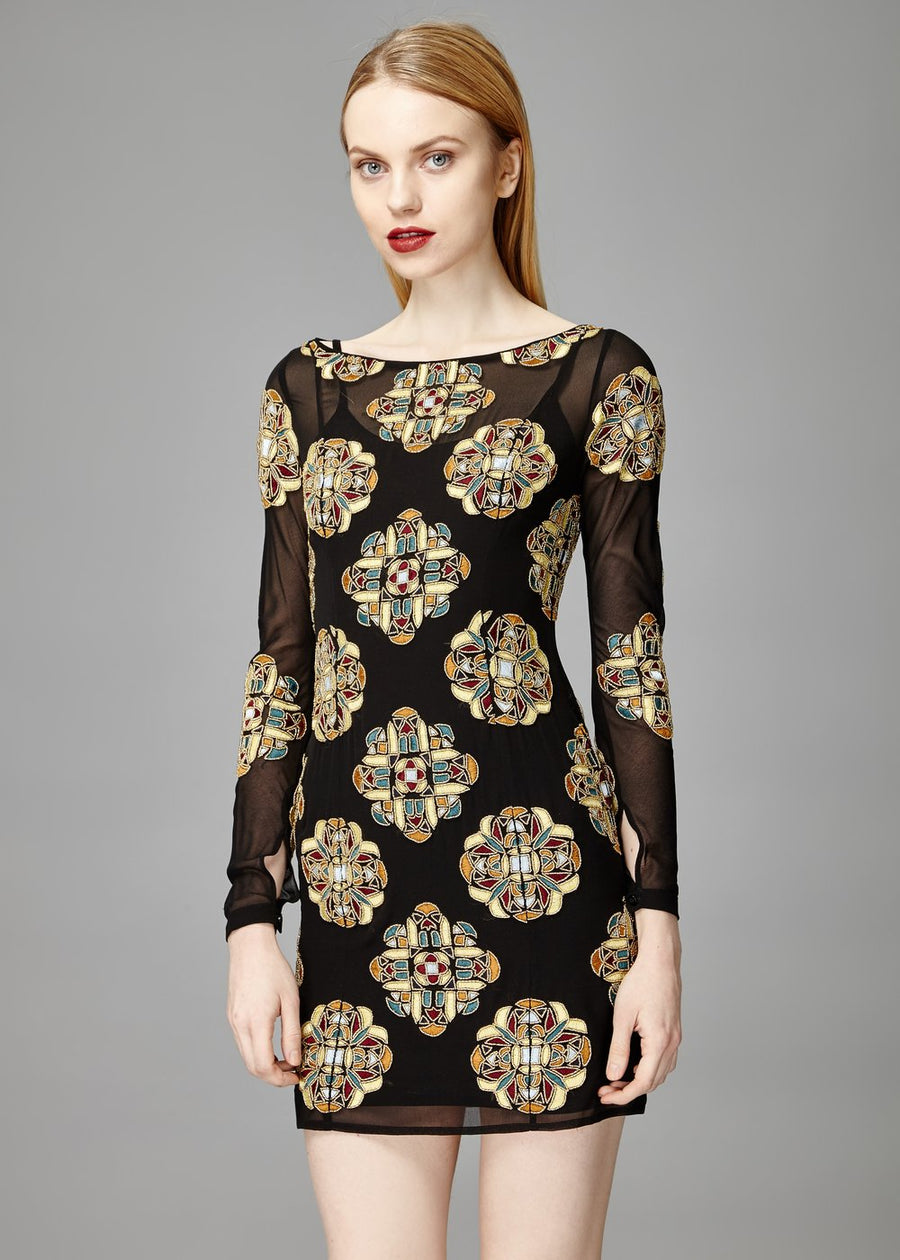 Belle Embellished Sheer Dress