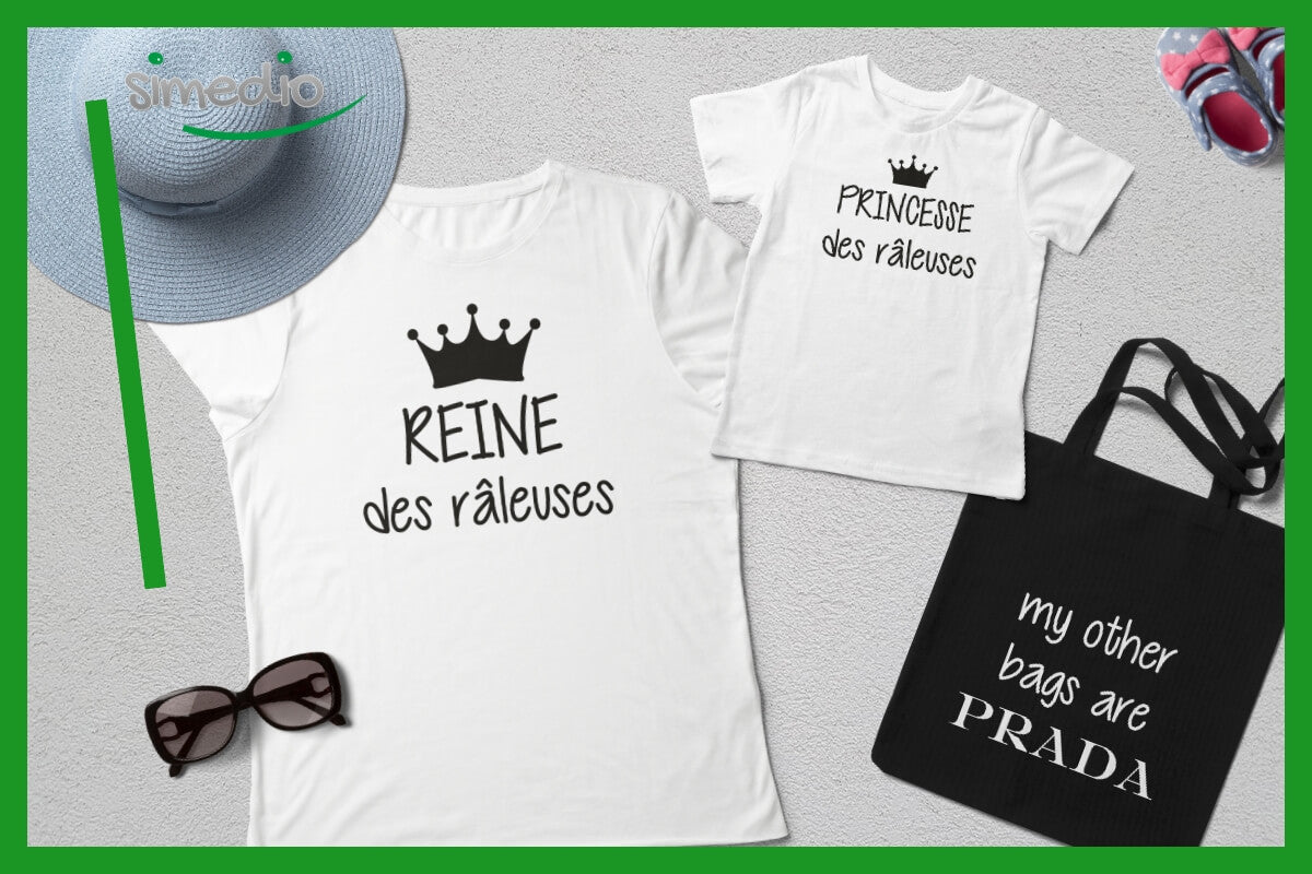 tee shirts assortis maman et fille