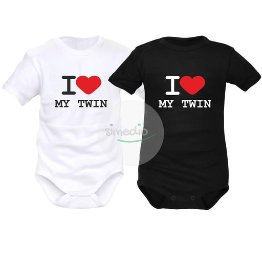 2 bodies bébé jumeaux : I love MY TWIN, , , - SiMEDIO