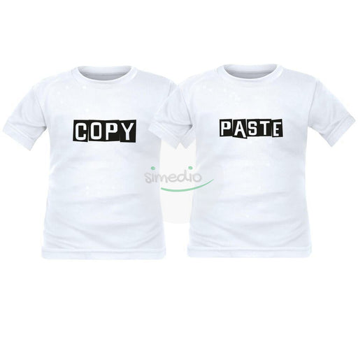 2 tee shirts enfant jumeaux : COPY / PASTE, , , - SiMEDIO