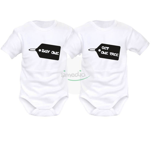 2 x body bébé jumeaux : BUY one / GET one free, , , - SiMEDIO