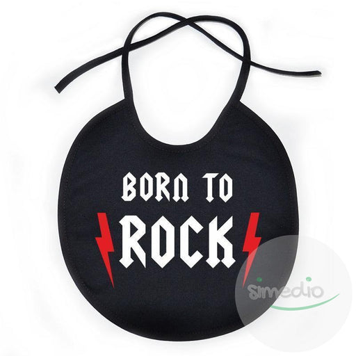 Bavoir bébé rock : BORN to ROCK, , , - SiMEDIO