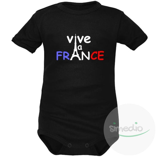 Body bébé avec inscription: VIVE LA FRANCE (8 couleurs), , , - SiMEDIO