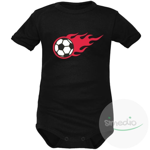 Body bébé de sport : Ballon de FOOT en flammes, , , - SiMEDIO