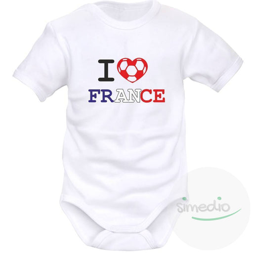 Body bébé de sport : I love France, , , - SiMEDIO