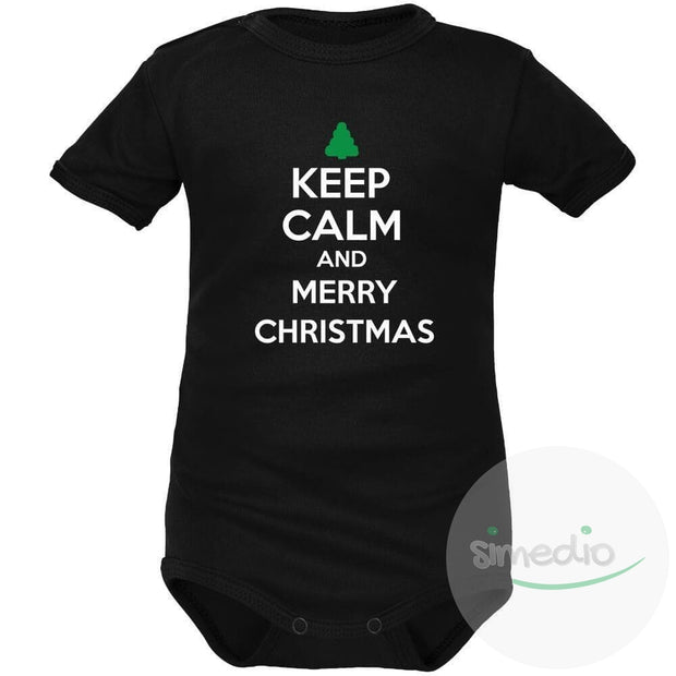 Body bébé : Keep Calm and MERRY CHRISTMAS (m. courtes ou longues), , , - SiMEDIO