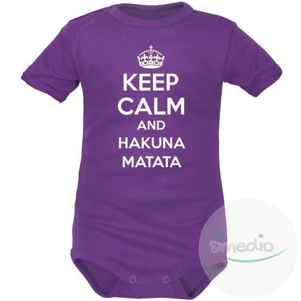 Body bébé rigolo : Keep Calm and HAKUNA MATATA, , , - SiMEDIO