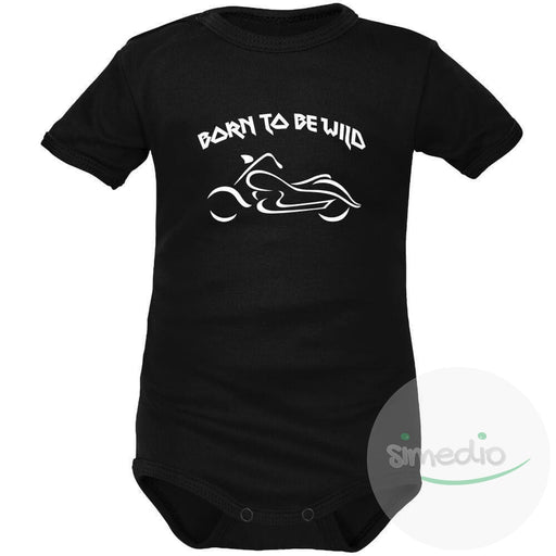 Body bébé rock : BORN TO BE WILD, , , - SiMEDIO