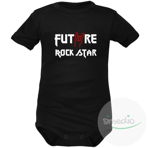 Body bébé rock : FUTURE ROCK STAR, , , - SiMEDIO