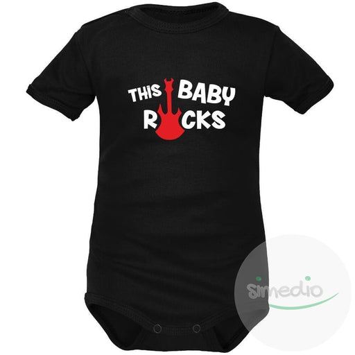 Body bébé rock : THIS BABY ROCKS, , , - SiMEDIO