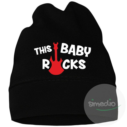 Bonnet bébé rock : THIS BABY ROCKS, , , - SiMEDIO