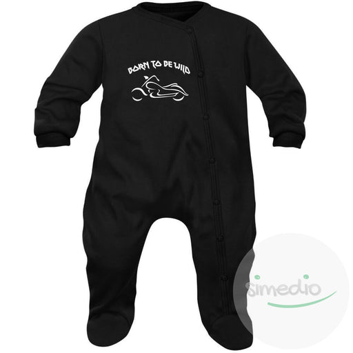 Pyjama bébé rock : BORN TO BE WILD, , , - SiMEDIO