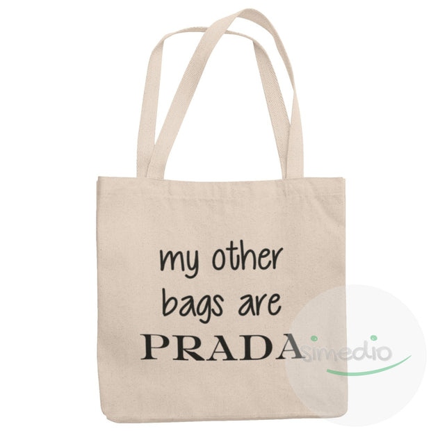 Sac tote bag rigolo : my other bags are PRADA, Naturel (beige), , - SiMEDIO