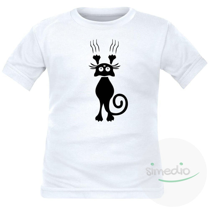T-shirt enfant original : CHAT, , , - SiMEDIO